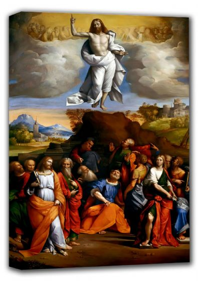 Garofalo, Benvenuto Tisi da: The Ascension of Christ. Religious/Christian Fine Art Canvas. Sizes: A4/A3/A2/A1 (001295)